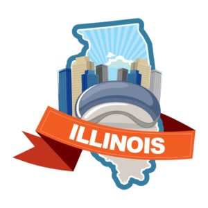 Map Of Illinois Expensive State Graphic