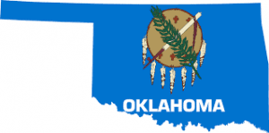 Graphic Of Blue Oklahoma Map Opt Out System