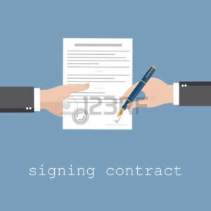 Signing a premium audit bill mistake contract Concept