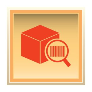 Graphic Of Box Coverage Verification Bar Code Using Magnifying Glass