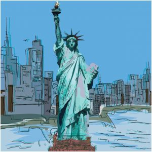 Graphic Massive Workers Comp Statue of Liberty