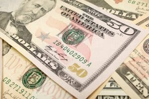 Picture Of US Dollars Bid On Contracts Cash