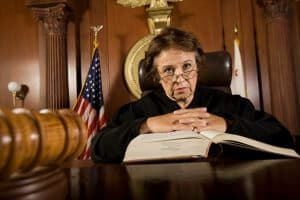 Picture Of Judge Independent Contractor Sitting On Court