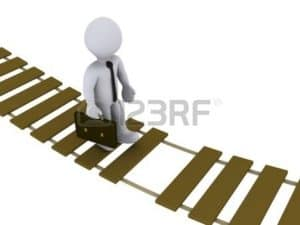 Emoticons Walking on Wood Ladder NCCI Unsafe Companies