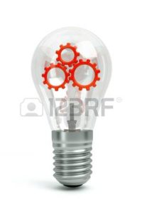 Graphic bulb with gear inside Seven Suggestions Workers Comp Audit
