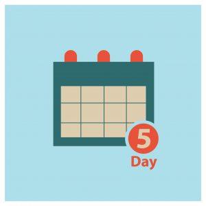 Graphic Five Days Notice Calendar