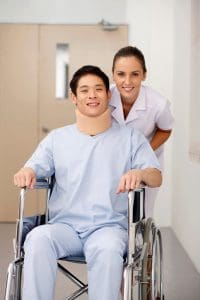 Picture Premium Recovery Nursing Pushing Patient
