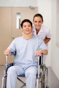 Picture Premium Recovery Nursing Pushing Patient