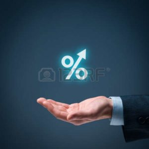 Business man hand and Percentage Rate Acceptable E-Mod NCCI