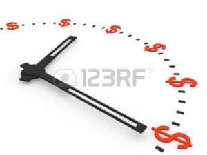 Graphic of Clock with Dollars Sign Fee Schedules Working NCCI Says Tennessee