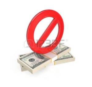 Graphic of work comp fee schedules no money symbol