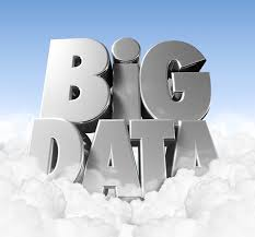 Graphic of Silver Letter of Big Data on Top of Clouds Predictive Modeling Concept