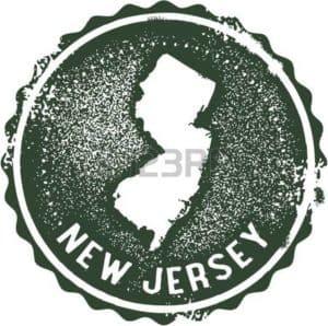 New Jersey Map and green background  TPA Fees Graphic