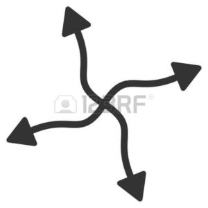 Graphic of Four Black Arrows Largest Workers Comp Concern Split Points
