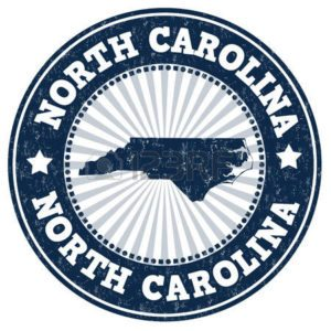 Graphic map of North Carolina Workers Comp Coverage records