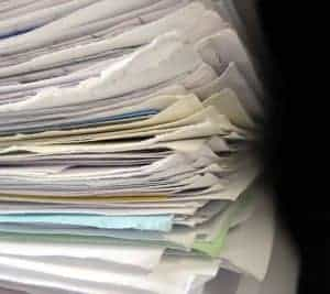 Picture Of Audit Workpapers Stack