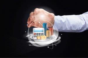 Hand Presenting Premium Audits Concept