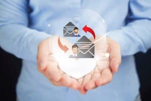 Hand Presenting Email Health Exchanges Icon