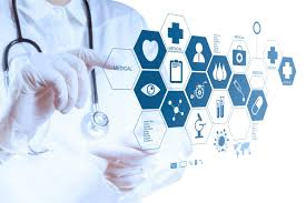 Picture of Physician Touch Screen Health Exchanges Concept