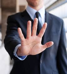 Picture of Business man Five Things on Hand