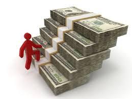 money bundle ladder Subcontractor Red Emoticon icon go up