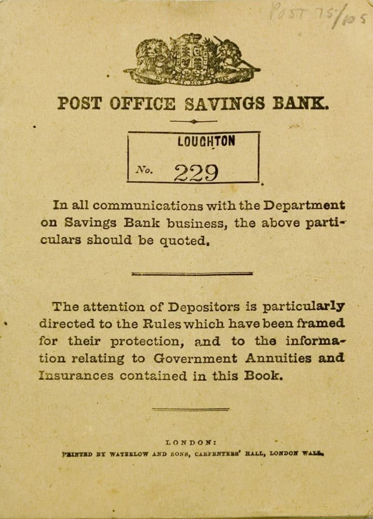 Passbook From Old Post Six Secrets Saving Bank