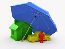Graphics of Self Insureds car and house under the umbrella