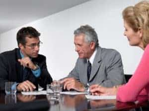 Picture Of Business Colleagues Bill Review Companies Disscussion