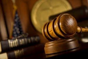 Gavel In Oklahoma Court Room