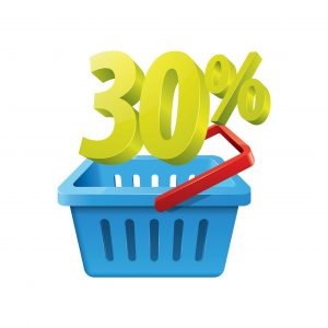 Shopping Basket WCRI Study With 30 Percent Icon