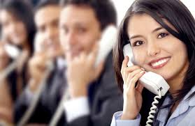 Picture of woman using Basic Phone Etiquette Marketing Calls