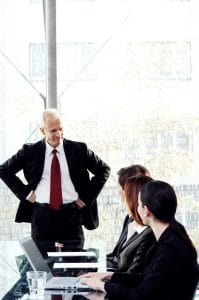 Business People Claim Severity In Conference Room