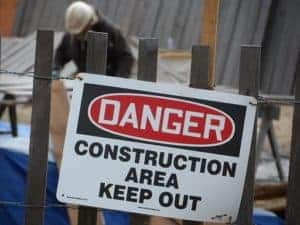 Picture Of Construction Dangers Area Signage