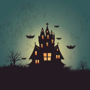 Graphic Of Scary House IBNR Halloween