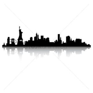 Clip art of New York in Black Color