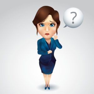 Vector Graphic Of Woman Rating Bureaus With Question Mark