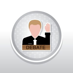 Vector Graphic of Job Alcohol v. Marijuana Debate Icon