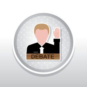 Vector Graphic of Job Alcohol v. Marijuana Debate Icon