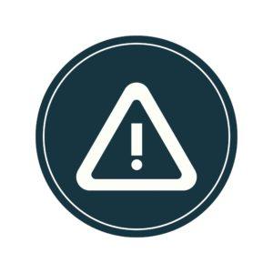 Graphic Of Warning Sign Premium Audit Disputes Icon