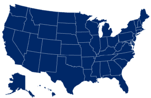 Map Of US WCRI Releases Massive Blue Color