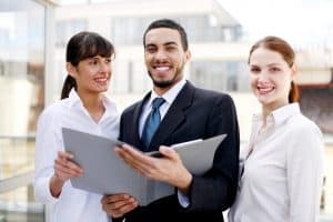 Business People Networks Cost Smiling