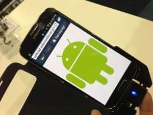 Picture Of Cellphone With Android Apps On Table
