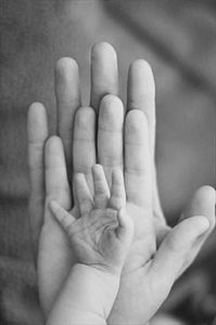 Picture Of Hands Grow Rated Ages Black And White Picture