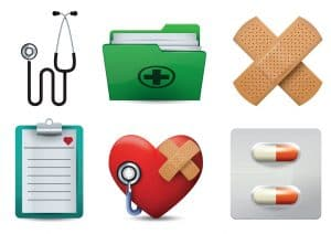 Set Of Medical Icon National Association of Medicare Set Aside Professionals Vector