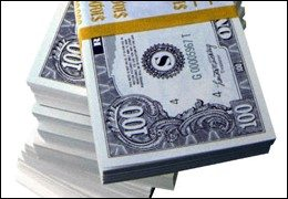 Picture of hundred dollar Bundle sell workers compensation pic of benjamins
