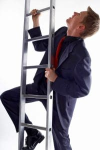 Man Climbing Certificates of Insurance  Ladder