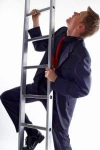 Man Climbing Certificates of Insurance Ladder