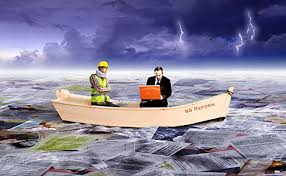 Graphic of Workers Compensation Survive On Boat with struggle
