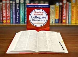 Picture Of Merriam Webster Dictionary Workers Compensation Definitions In Library