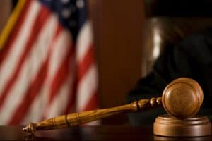Lying Gavel IRS Independent Contractor In Front Of Judge
